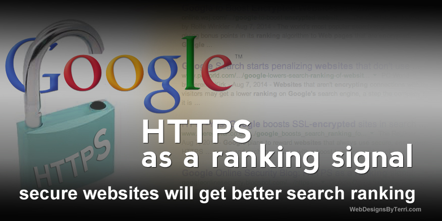 HTTPS to get higher page rankings in Google