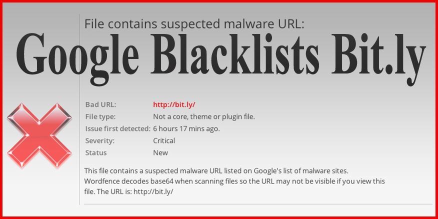 Google blacklists bit.ly