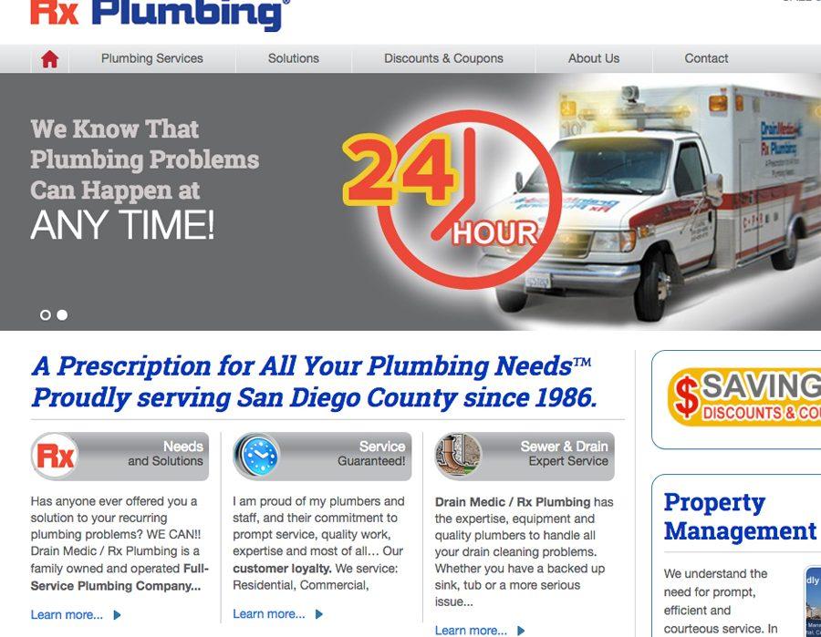 website for San Diego plumbers