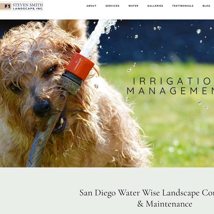 mobile responsive website, landscaper, landscape company, web design by Terri Ramacus