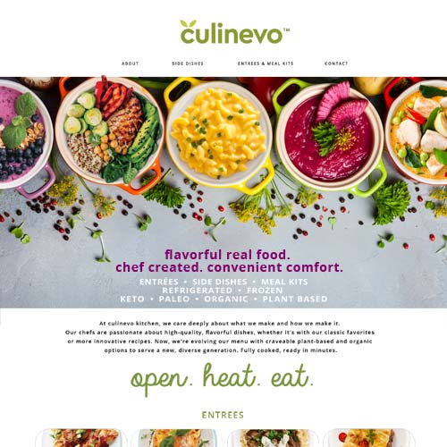 culinevo website, designed by Terri Ramacus