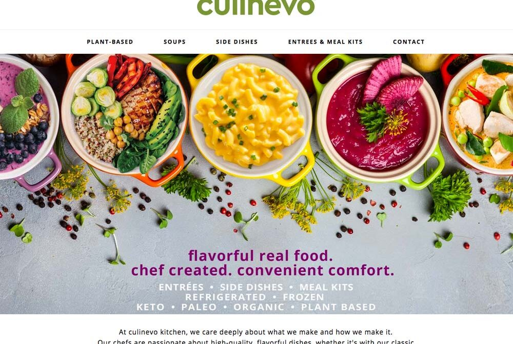 culinevo weordpress food website