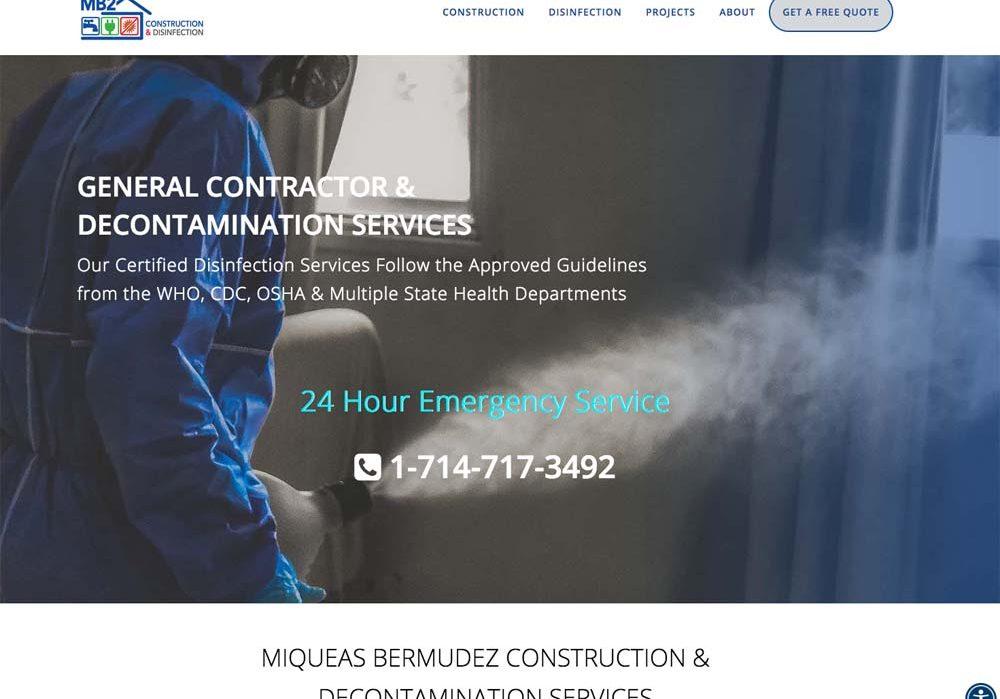 WordPress Website, by Terri Ramacus, construction, decontamination, sanitization COVID-19